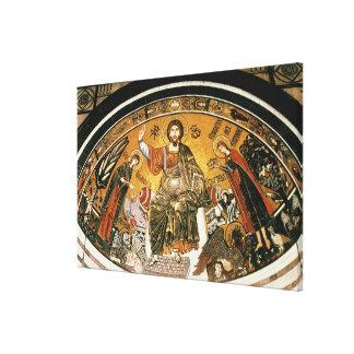 Mosaico del Jesucristo con la Virgen Lienzo Envuelto Para Galerías