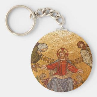 mosaico del Jesucristo Llavero Redondo Tipo Chapa