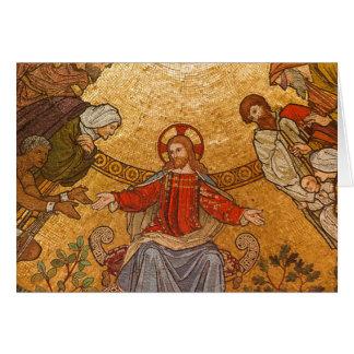 mosaico del Jesucristo Tarjeta De Felicitación