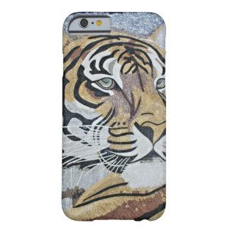 Mosaico del mármol de la cara del leopardo de la funda para iPhone 6 barely there