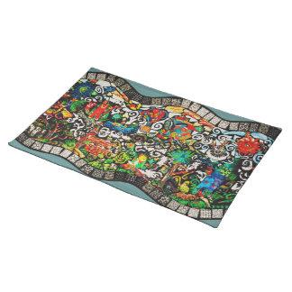 Mosaico del país de las maravillas mantel individual