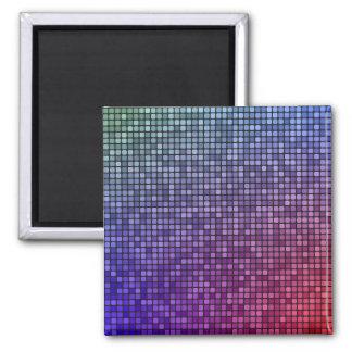 Mosaico del pixel de la fiebre del disco imán cuadrado