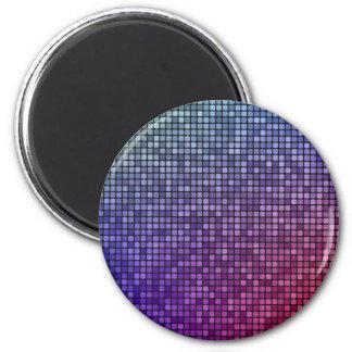 Mosaico del pixel de la fiebre del disco imán redondo 5 cm