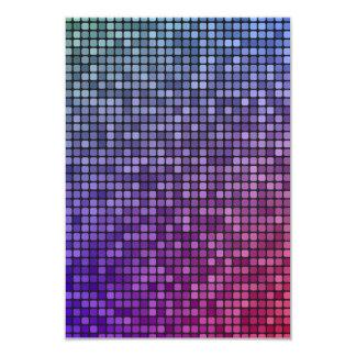 """Mosaico del pixel de la fiebre del disco invitación 3.5"""" x 5"""""""
