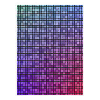 """Mosaico del pixel de la fiebre del disco invitación 5.5"""" x 7.5"""""""