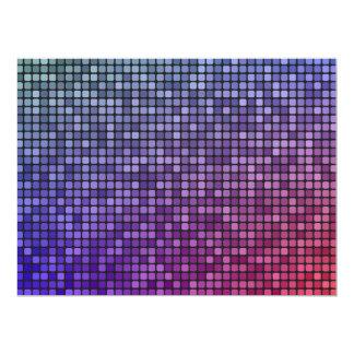 """Mosaico del pixel de la fiebre del disco invitación 6.5"""" x 8.75"""""""