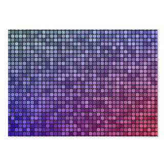 """Mosaico del pixel de la fiebre del disco invitación 5"""" x 7"""""""