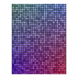 """Mosaico del pixel de la fiebre del disco invitación 4.25"""" x 5.5"""""""