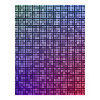 Mosaico del pixel de la fiebre del disco membrete a diseño