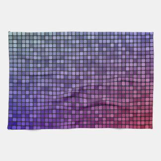 Mosaico del pixel de la fiebre del disco toalla de cocina