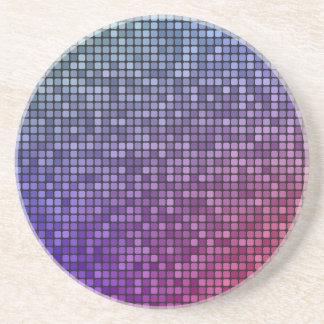 Mosaico del pixel de la fiebre del disco posavasos para bebidas