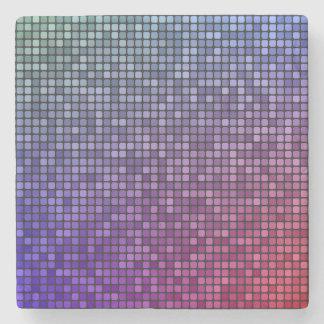 Mosaico del pixel de la fiebre del disco posavasos de piedra