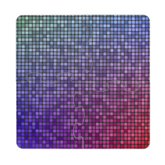 Mosaico del pixel de la fiebre del disco posavasos de puzzle