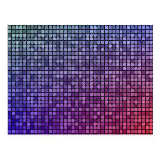 Mosaico del pixel de la fiebre del disco postal