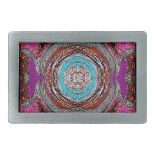 mosaico del remolino hebillas cinturón rectangulares