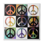 Mosaico del signo de la paz azulejo ceramica