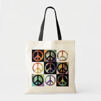 Mosaico del signo de la paz bolsa tela barata
