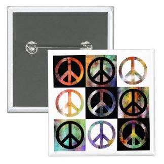 Mosaico del signo de la paz pins