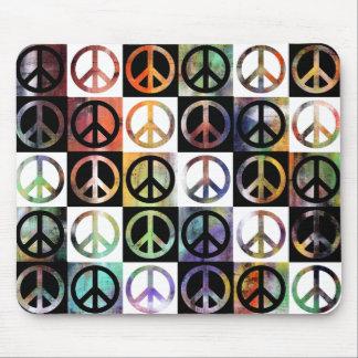 Mosaico del signo de la paz alfombrilla de raton