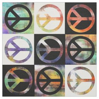 Mosaico del signo de la paz telas