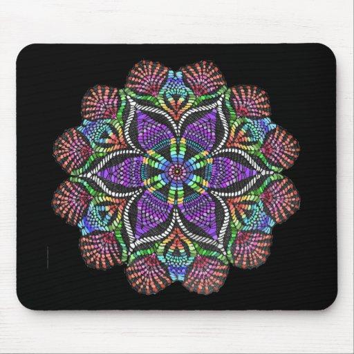 Mosaico del tapetito del arco iris tapete de ratón