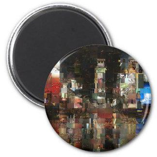 mosaico del Times Square Imán Redondo 5 Cm