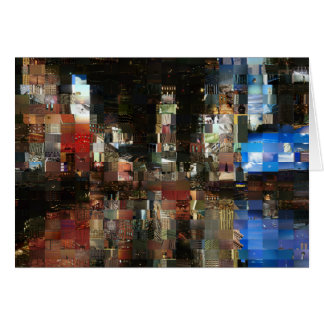 mosaico del Times Square Tarjeta De Felicitación
