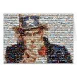 Mosaico del tío Sam Tarjetas