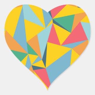 Mosaico del triángulo pegatina en forma de corazón