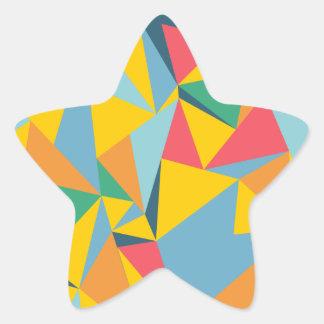 Mosaico del triángulo pegatina en forma de estrella