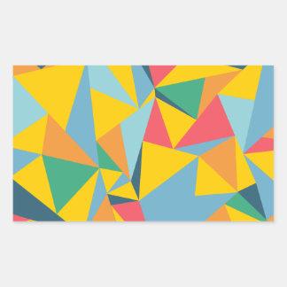 Mosaico del triángulo pegatina rectangular