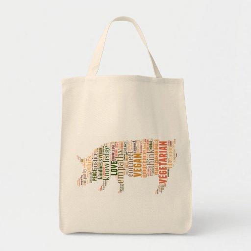 Mosaico del vegano bolsas