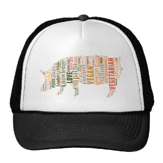 Mosaico del vegano gorras