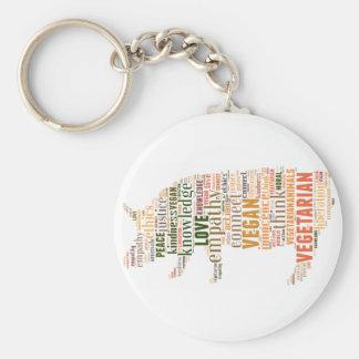 Mosaico del vegano llavero redondo tipo pin