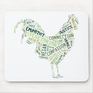 Mosaico del vegano tapete de raton