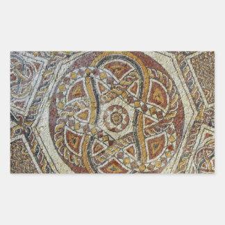 Mosaico do Museu dos Mosaicos em Israel Rectangular Sticker