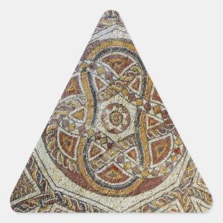Mosaico do Museu dos Mosaicos em Israel Triangle Sticker