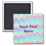 Mosaico en colores pastel de Chevron personalizado Imanes Para Frigoríficos