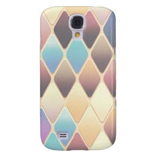 Mosaico en colores pastel del diamante funda samsung s4