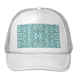 Mosaico enojado gorras de camionero