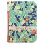 Mosaico enrrollado abstracto anaranjado colorido d