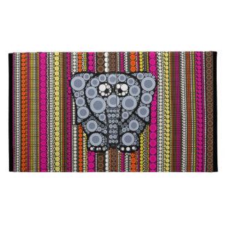 Mosaico enrrollado del círculo del elefante con la