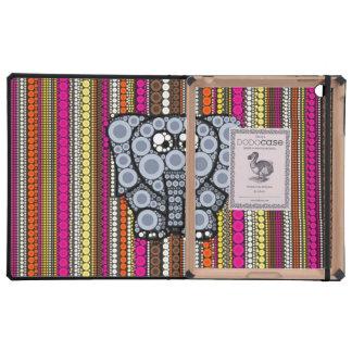 Mosaico enrrollado del círculo del elefante con la iPad fundas