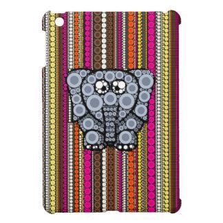 Mosaico enrrollado del círculo del elefante con la iPad mini carcasa