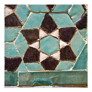 Mosaico esmaltado de la teja invitación 13,3 cm x 13,3cm