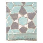 Mosaico esmaltado de la teja membrete personalizado