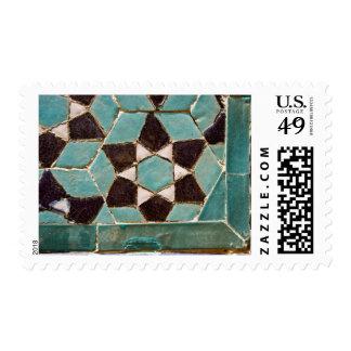 Mosaico esmaltado de la teja franqueo