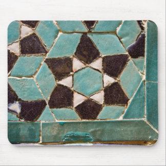 Mosaico esmaltado de la teja tapetes de ratón