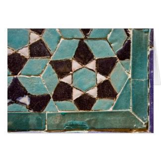Mosaico esmaltado de la teja tarjeta de felicitación
