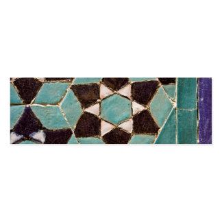 Mosaico esmaltado de la teja plantillas de tarjetas personales